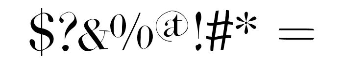 WildBradoni Font OTHER CHARS