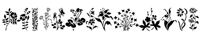 Wildflowers1 Font UPPERCASE