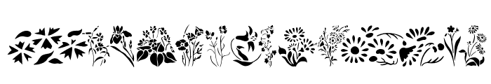 Wildflowers2 Font UPPERCASE