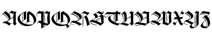 WilhelmKlingsporGotisch Wd Font UPPERCASE