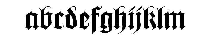 WilhelmKlingsporGotisch Wd Font LOWERCASE