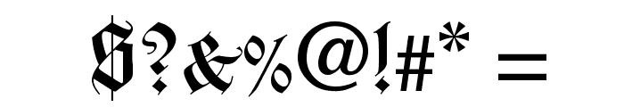 WilhelmKlingsporGotisch Font OTHER CHARS