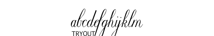 Willegha Tryout Font LOWERCASE
