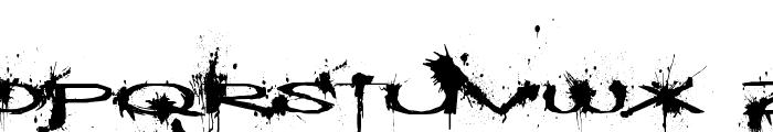 Windshield Massacre Font UPPERCASE