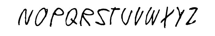 Windy Indigo Font UPPERCASE