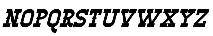 Winslett Bold Italic Font UPPERCASE