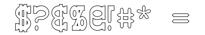 Winslett Hollow Font OTHER CHARS