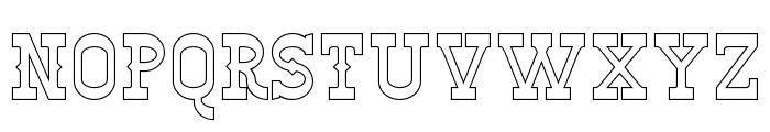 Winslett Hollow Font UPPERCASE