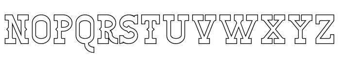 Winslett Hollow Font LOWERCASE