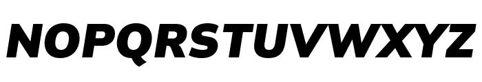Winston Black Italic Font UPPERCASE