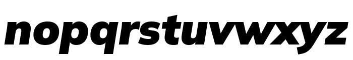 Winston Black Italic Font LOWERCASE