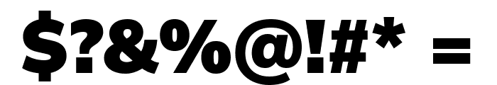 Winston Black Font OTHER CHARS