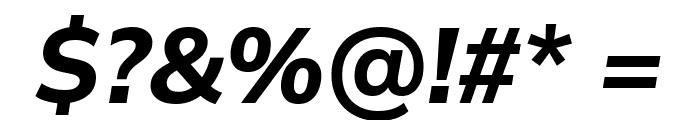 Winston Bold Italic Font OTHER CHARS