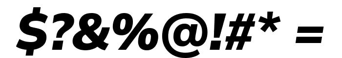 Winston ExtraBold Italic Font OTHER CHARS
