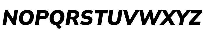Winston ExtraBold Italic Font UPPERCASE