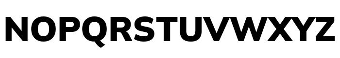 Winston ExtraBold Font UPPERCASE