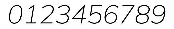 Winston ExtraLight Italic Font OTHER CHARS