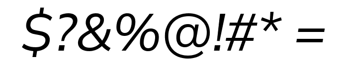 Winston Italic Font OTHER CHARS