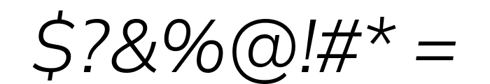 Winston Light Italic Font OTHER CHARS