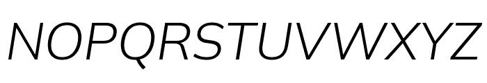 Winston Light Italic Font UPPERCASE