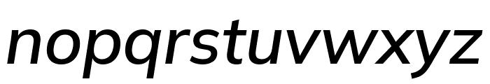 Winston Medium Italic Font LOWERCASE