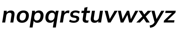Winston SemiBold Italic Font LOWERCASE