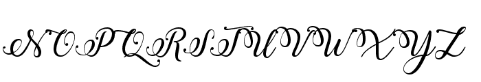 Winter Calligraphy Font UPPERCASE