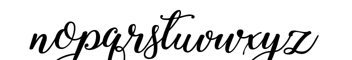 Winter Calligraphy Font LOWERCASE