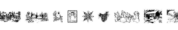 Winter Wonderland Font UPPERCASE