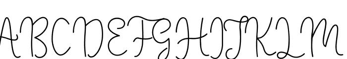 Winter Font UPPERCASE