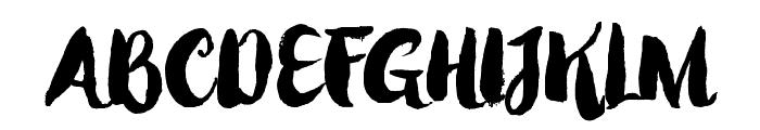 WinterBrushDemo Font UPPERCASE