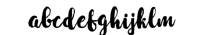 WinterBrushDemo Font LOWERCASE