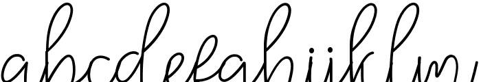 Winter Font LOWERCASE