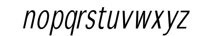 WinterthurCondensedOblique Font LOWERCASE