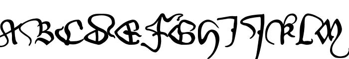 WirWenzlaw Font UPPERCASE