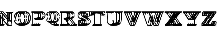 Wireframe-Davenport Font UPPERCASE