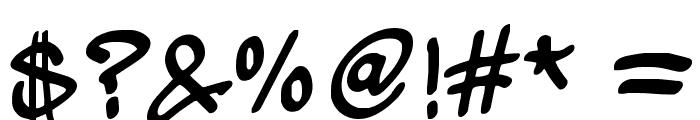 wickhop handwriting Font OTHER CHARS
