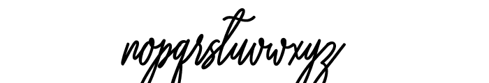 willona love Font LOWERCASE