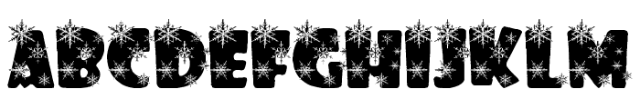 winterflakes Font UPPERCASE