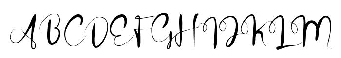 winteria Font UPPERCASE