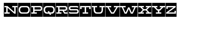 Wide Display Regular Ribbon Font LOWERCASE