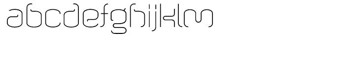 Wigan Thin Font LOWERCASE