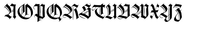 Wilhelm Klingspor Gotisch Roman Font UPPERCASE