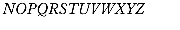 Williams Caslon Text Italic Font UPPERCASE