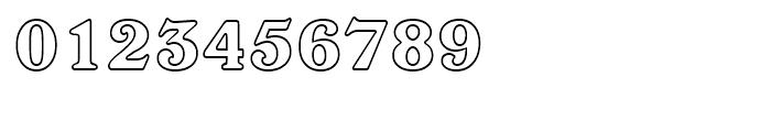 Windsor Outline Font OTHER CHARS