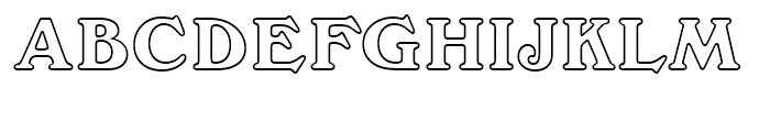Windsor Outline Font UPPERCASE