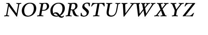 Winthorpe Semibold Italic Font UPPERCASE