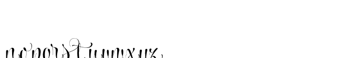 Wishes Script Pro Display Bold Font LOWERCASE