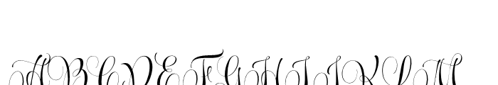 Wishes Script Pro Display Regular Font UPPERCASE