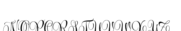 Wishes Script Pro Text Bold Font UPPERCASE